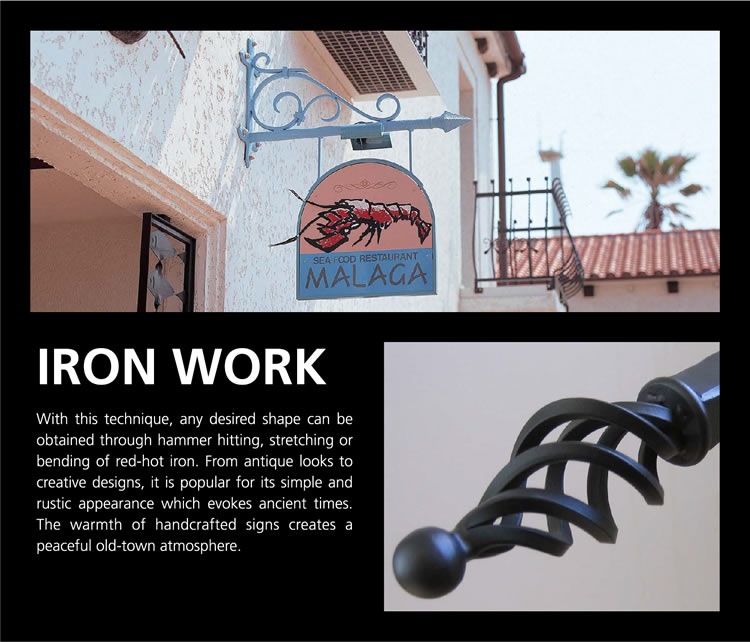 Iron Work Metal Sign Products Total Sign